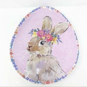 NWT BUNNY BOULEVARD (4) Melamine Easter Egg Plates